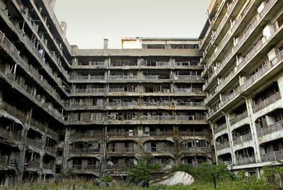 hashima ghost town