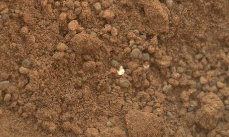 Mars Curiosity In Pictures. UFO's,Alien Carcass,Strange Artifacts and more..   Curiosity-scoop-alien-gold
