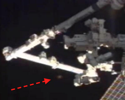 ALIENS hovers around the International Space Station