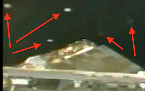 Fleet of UFO's fly by Space Station