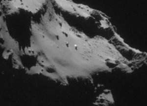 UFO on comet