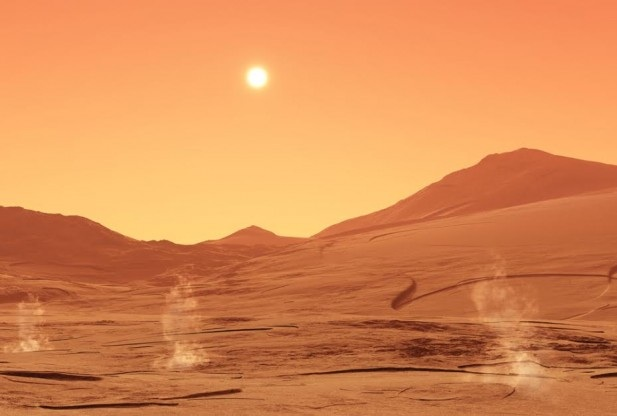 Mars nuclear attack