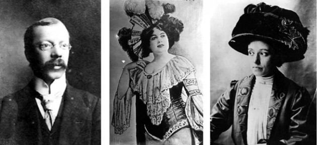 Dr Crippen, his wife and his lover