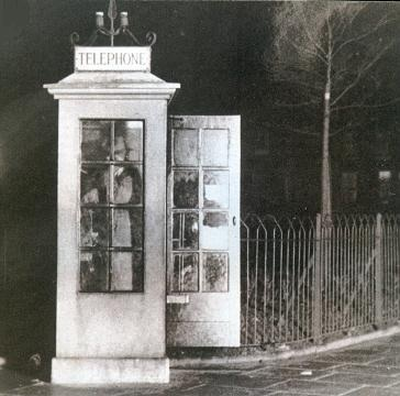 The phone box near Wallace's home, used to make the call
