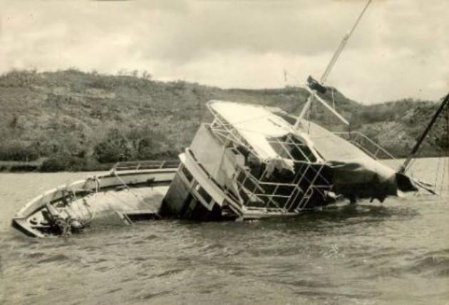 The submerged MV Joyita