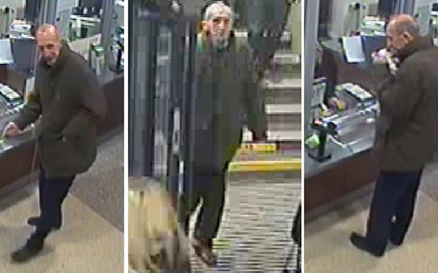 BEST QUALITY AVAILABLE Undated Greater Manchester Police handout images from CCTV footage dated 11/12/15 of an unidentified man at Ealing Broadway station in London. The mystery man was later found dead on moorland having suffered strychnine poisoning. PRESS ASSOCIATION Photo. Issue date: Monday March 14, 2016. The pensioner was discovered at a beauty spot near Oldham in December with no signs of a struggle or fall and detectives are still unable to identify him. See PA story POLICE Mystery. Photo credit should read: Greater Manchester Police/PA Wire NOTE TO EDITORS: This handout photo may only be used in for editorial reporting purposes for the contemporaneous illustration of events, things or the people in the image or facts mentioned in the caption. Reuse of the picture may require further permission from the copyright holder.
