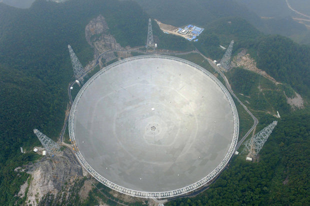 The 500 Aperture Spherical Telescope (FAST), armed with a 1,650-foot-wide satellite dish, will unearth the universe's darkest and deepest secrets. It will track signals received from out of this world.