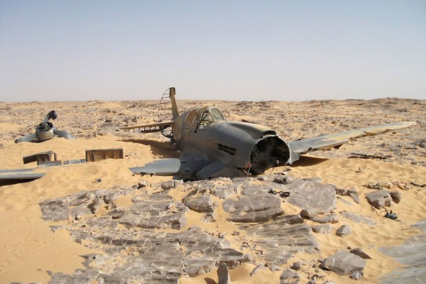 British WW II fighter plane found in Egypt desert