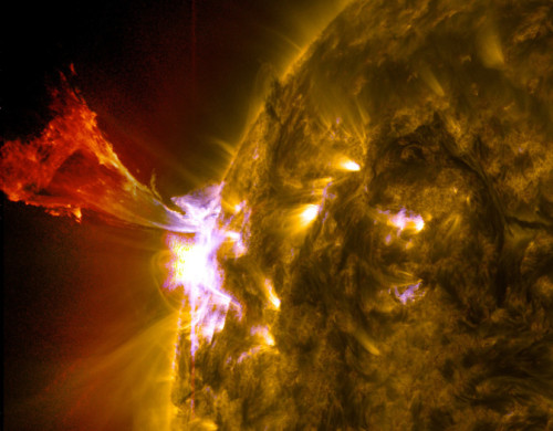 Laser Beam Shoots Sun Causing CME