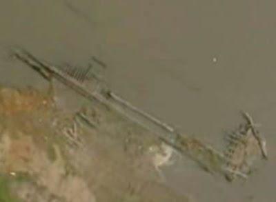 Drought reveals famous sunken ship