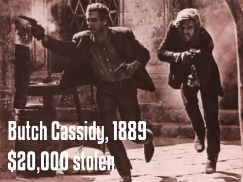 Historical Heists – Butch Cassidy, 1889, $20,000 stolen