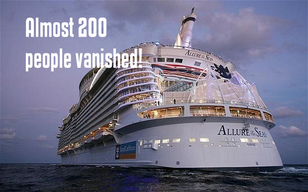 Mystery of the missing cruise ship people.