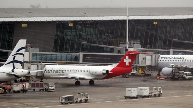 The Swiss plane after the robbery