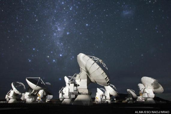 Alma, the alien hunting telescope