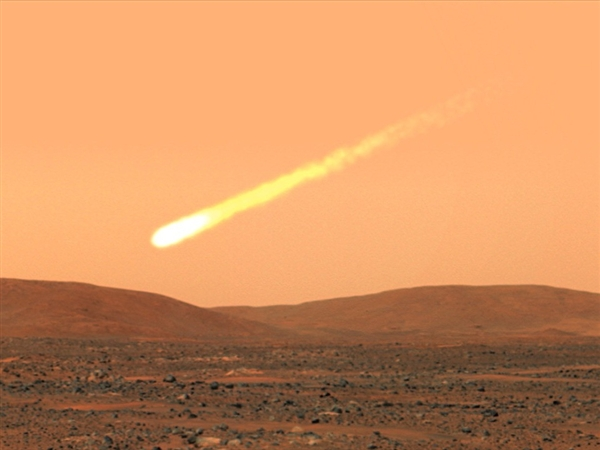Massive comet heading toward Mars