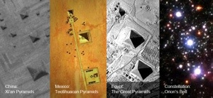 Ancient Pyramids Match The Alignment of Orions Belt.