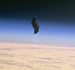Alien Satellite, black knight orbiting earth
