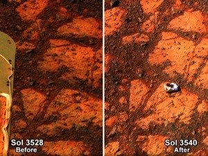 The unexplained mysterious rock on Mars
