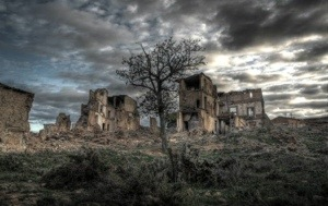 The abandoned Spanish town of Belchite
