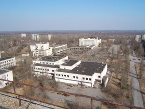 The deserted streets of Prypiat – the most famous nuclear ghost town