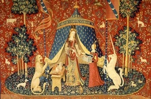 The unexplained Unicorn Tapestries