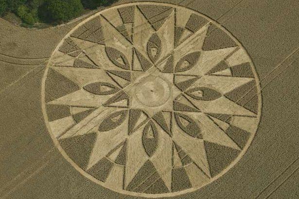 Unexplained crop circles