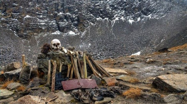 The Skeletons in Roopkund Lake