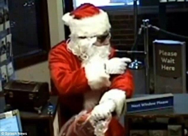 Another Santa robs a bank!