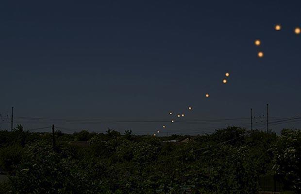 Strange UFO lights in UK