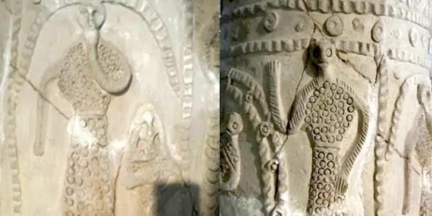 Alien vase, found in Iraq Museum