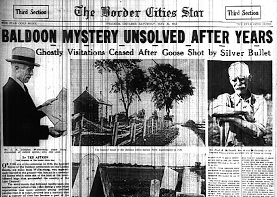 The strange unexplained Baldoon Poltergeist Mystery
