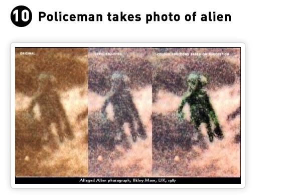 Even policemen see Aliens!