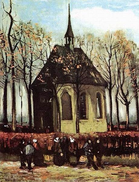 Van Gogh's Congregation Leaving the Reformed Church in Nuene