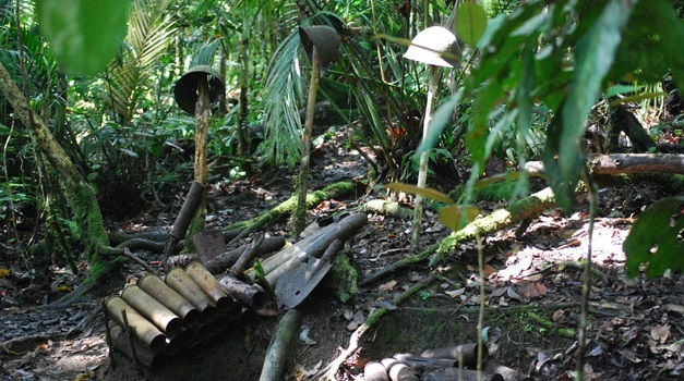 Untouched WWII battle field in Papua New Gunea Jungles discovered