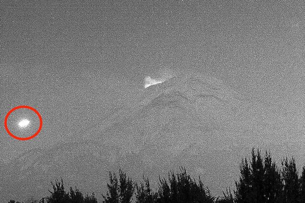 UFO spotted 'probing' active volcano is 'proof aliens are monitoring our planet'