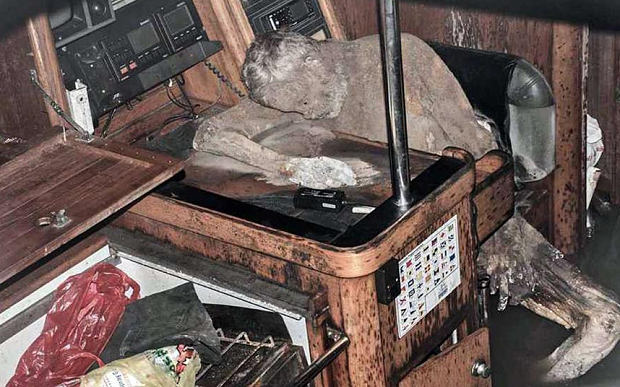 Mystery  surrounds 'mummified' body of adventurer found in abandoned yacht!