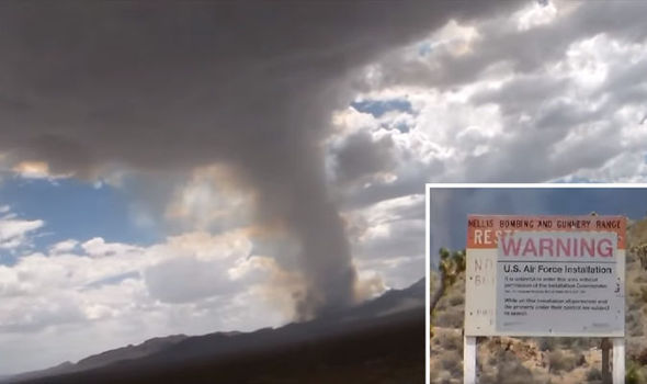 Mystery mushroom cloud filmed billowing from Area 51