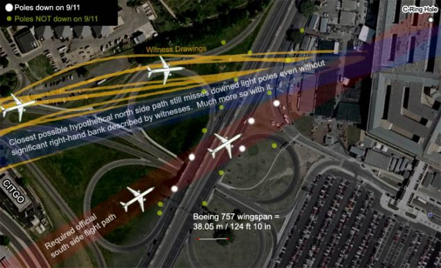 9/11 Conspiracy – what really happened to the lamp posts at the Pentagon?