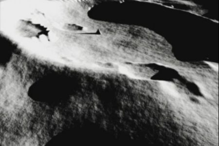 Did the Hubble capture images of a pyramid on the moon